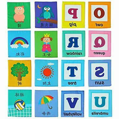 LALABABY 26 Card with Cloth Bag Early Education Over