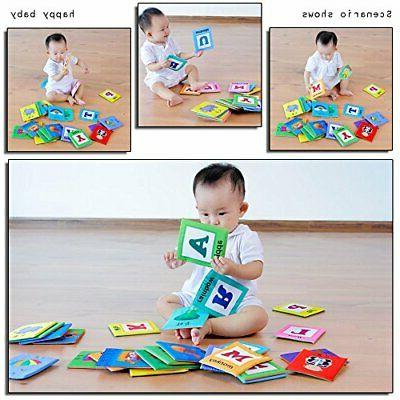 LALABABY 26 Letters Card Cloth Early Education Toy for Over