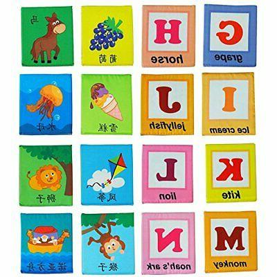 LALABABY 26 Letters Card with Cloth Early Education Toy