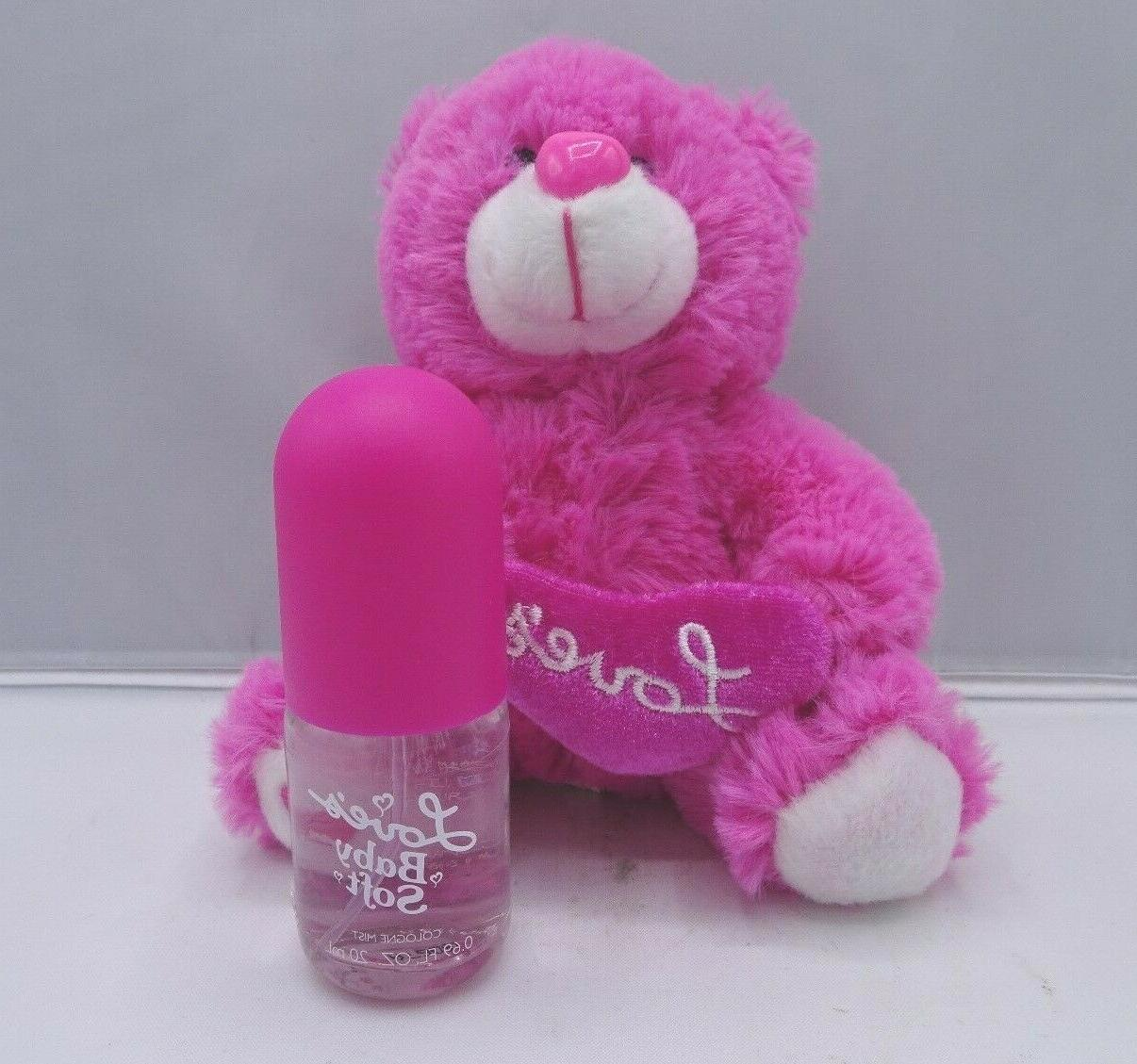 LOVE'S BABY SOFT BY DANA GIFT SET OZ COLOGNE MIST BEAR - BOXED