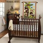 Bedtime Originals Monkey CURLY TAILS 3 PC Crib Set Nursery L