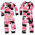NEW Infant Baby Lazy One Piece Union Suit Pajamas Pink Camo