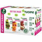 NEW Sprout Organic Baby Food Fruit Vegetable Pouches Variety