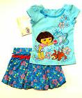 NWT Nickelodeon Infant Girls Dora The Explorer 2-Piece Outfi