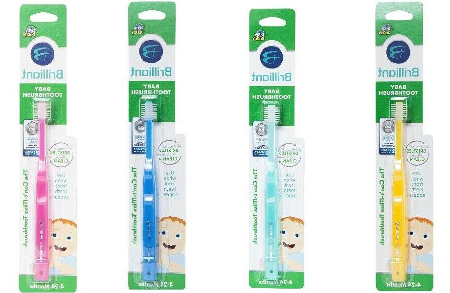 Baby Buddy Oral Care 360 Toddler Round Toothbrush Step 1