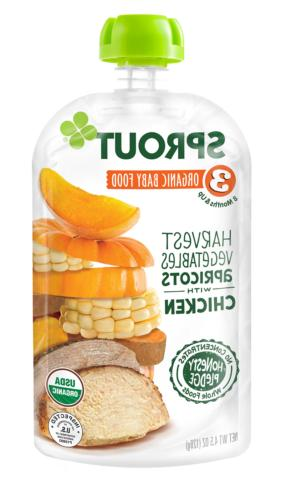 Sprout Organic Stage 3 Baby Food Pouches, Harvest Vegetables