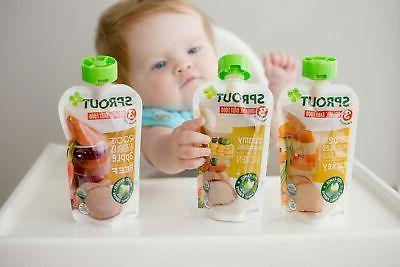Sprout Baby Food Pouches, Variety, 4