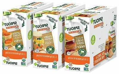 Sprout Baby Pouches, Variety, 4