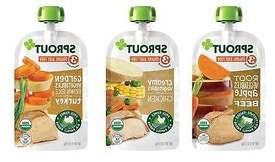 Sprout Stage 3 Baby Food Pouches, Meat Variety, Ounce