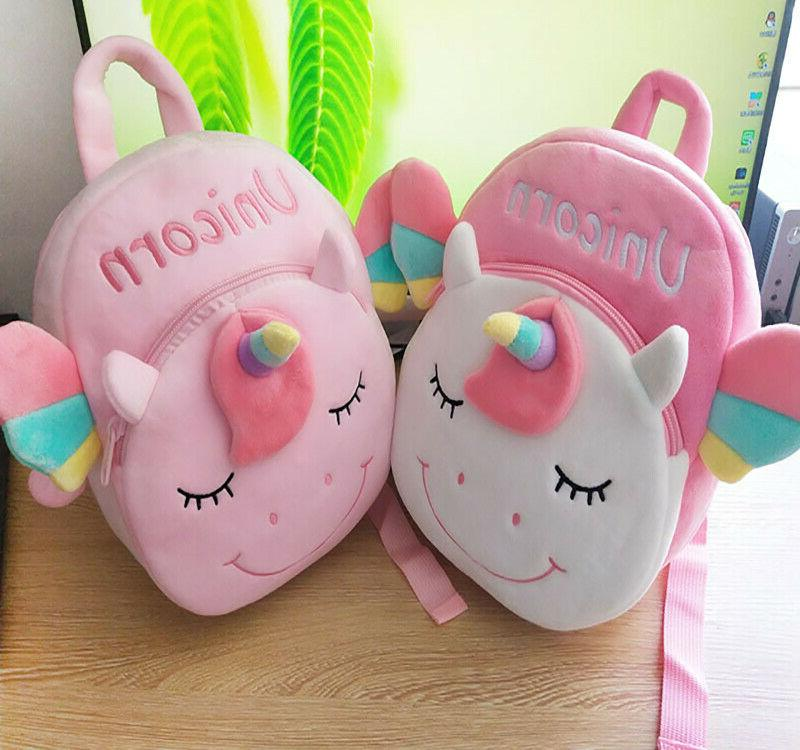 Paw shark and Unicorn 3-D Plush Backpack little kids age 5
