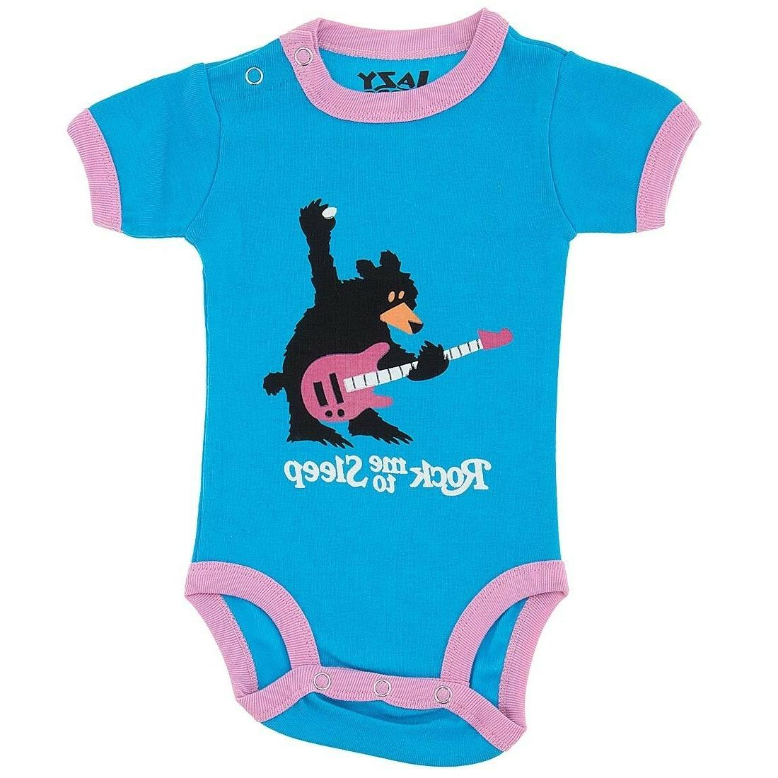 Lazy One Pink Rock Me to Sleep One-Piece for Baby Girls