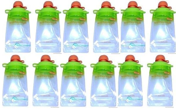 12-Pack Refillable Baby Food Pouch great for snacks and Drin