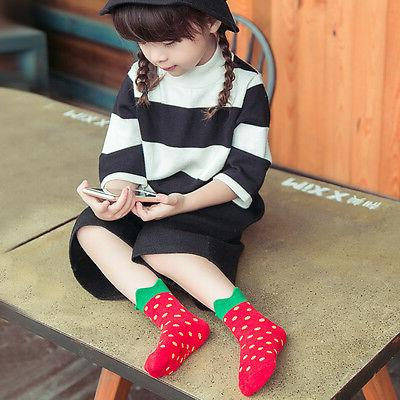 Strawberry Socks for Baby & Toddler Ankle Heigh Unisex Socks