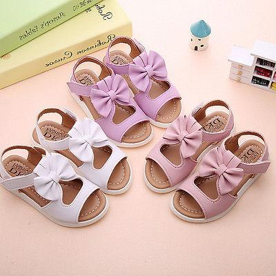 Summer Baby Girl Bow Leather Shoes KY