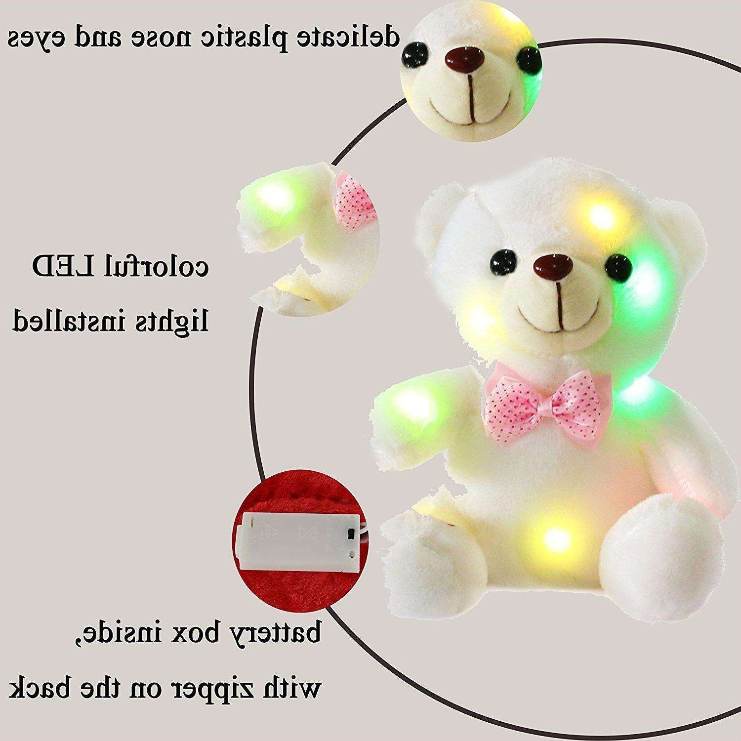 Cute Girls LED Up Bear Night Xmas Gift US