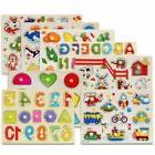 wooden animal letter puzzle jigsaw early learning