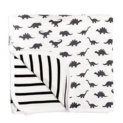 Large Premium Knit Baby 3 Layer Stretchy Quilt Blanket Dinos