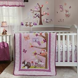 Bedtime Originals Lavender Woods 3-Piece Crib Bedding Set -