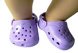 Light Purple Kroc Krocs Clog Summer Shoes For Bitty Baby & 1