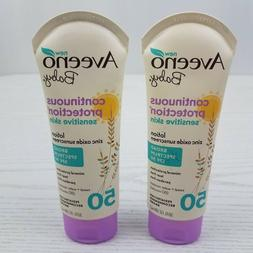 Lot 2 Aveeno Baby Continuous Protection Sensitive Skin Sunsc