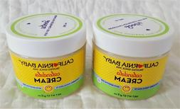 Lot of 2 Jars NEW California Baby Calendula Cream 2 oz Each