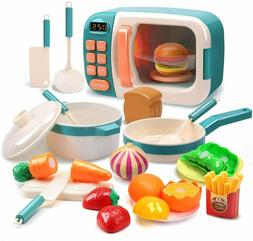 Microwave Toys Kitchen Play Set Great Learning Gifts for Bab