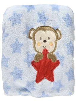 "Baby Starters ""Monkey Star"" Plush Blanket - 30 X 40"