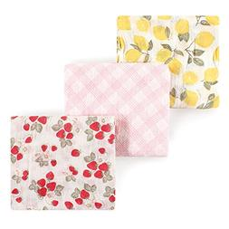 Hudson Baby Muslin Swaddle Blankets, Lemons and Strawberries