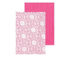 Yoga Sprout 2 Pack Muslin Swaddle Blankets - Pink Swirl