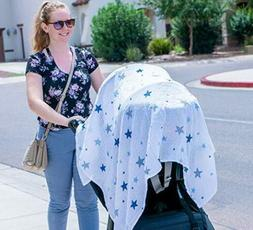 Muslin Swaddle Wrap Perfect for Baby Blankets, Nursing Cover