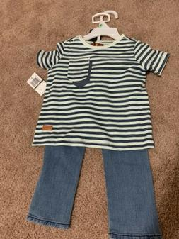 NEW 7 For All Mankind 18 months Infant Baby Boy Set Shirt/Je