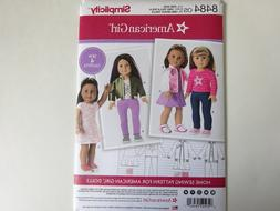 """New Simplicity 8484 pattern for 18"""" Doll Clothes 4 Outfits"""