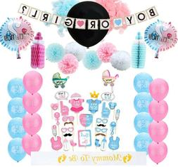 New Gender Reveal Party Decorations Kit 63pcs / Baby Gender