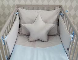 **NEW LUXURY BABY BOY BEDDING SET for COT/BED - BABY BLUE an