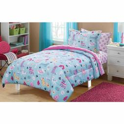New! Puppy Dog Love Bed in a Bag Bedding Comforter Sheets SE