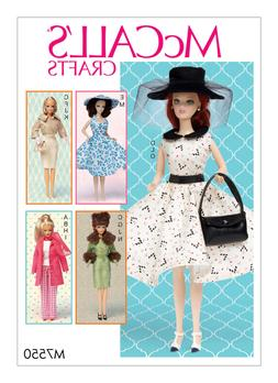 """New McCalls  7520 pattern for Barbie 11 1/2"""" Doll Vintage  S"""