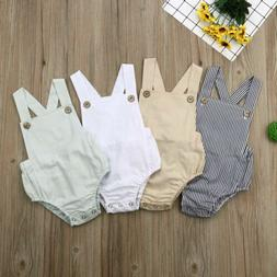 Newborn Baby Boy Girl Romper Bodysuit Sunsuit Summer Outfit