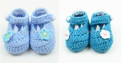 Newborn Baby Crochet Mary Jane Baby Shoes Booties for Baby G