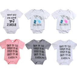 Newborn Baby Boy Girl Summer Romper Bodysuit Jumpsuit Outfit