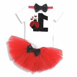 Newborn Red Pattern Dress for Baby First 1 Year Girl Baby Bi