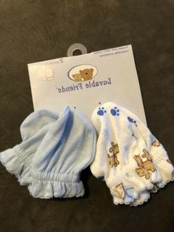 NWT! Luvable Friends 2 Pack Scratch Mittens For Baby Small 0