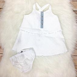 NWT 7 For All Mankind Tiered Dress Baby Girl Sz 3-6 Months W