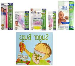 Baby Buddy Infant Oral Care 5pc Pink Gift Set & Sugar Bugs C