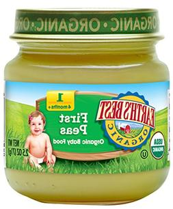 Earth's Best Organic Stage 1, Peas, 2.5 Ounce Jar
