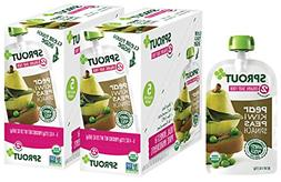 Sprout Organic Stage 2 Baby Food Pouches, Pear Kiwi Peas Spi