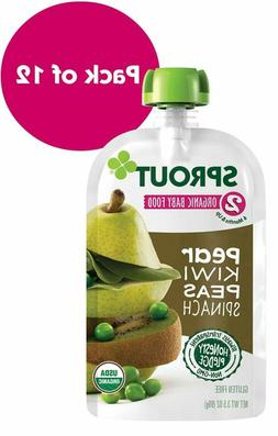 Sprout Organic Stage 2 Baby Food Pouches, Pear, Kiwi Peas, 3
