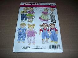 """Simplicity Pattern 4268 ~ 15"""" Unisex Doll Clothes for Baby D"""