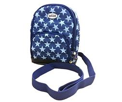 Nuby Quilted Baby Backpack with Safety Harness, Navy Star