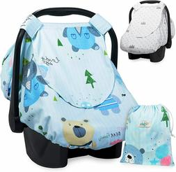 Reversible Car Seat Canopy Infant Car Seat Cover for Boys or