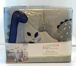 Bedtime Originals Roar Dinosaur 3 Piece Crib Bedding Set, Bl